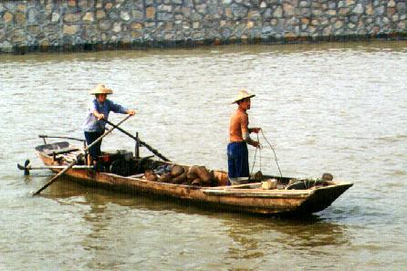 Fishermen on the Pearl river