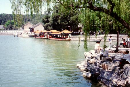 Dragon boats on Kunming Lake