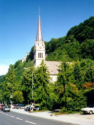 Vaduz's catholic church