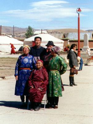 Family group in traditional dress
